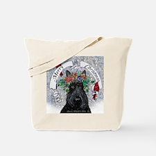 Scottie Christmas Snow Tote Bag