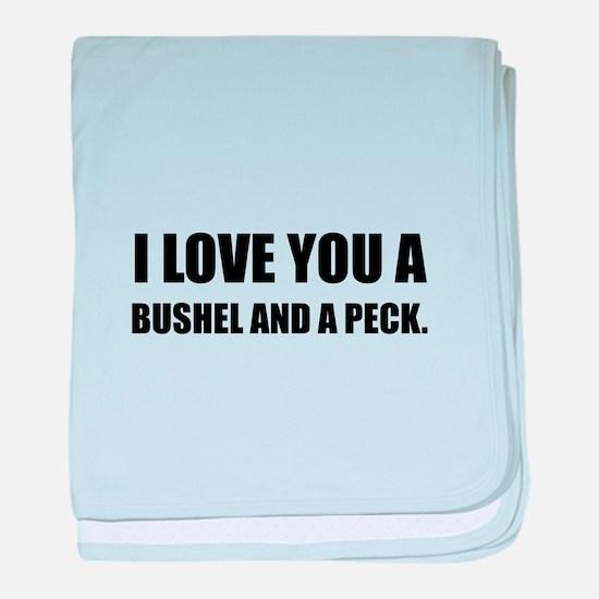 Love You Bushel Peck baby blanket