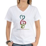 Music Womens V-Neck T-shirts
