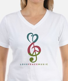 Love Peace Music Treble Symbol Modern T-Shirt