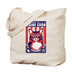 Obey the Maine Coon Cat! Tote Bag