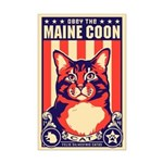 Obey the Maine Coon Cat! Mini Poster Print