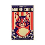 Obey the Maine Coon Cat! USA Magnet