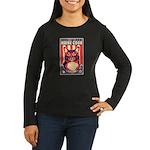 Maine Coon Cat! Women's Long Slv Dark Tee