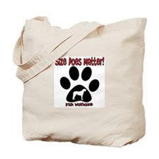 Size Matters Irish Wolfhoun Tote Bag