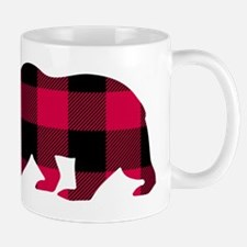 Buffalo Plaid Bear Mugs