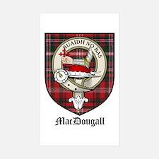 MacDougall Clan Crest Tartan Rectangle Decal