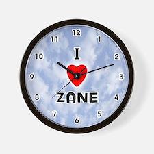 I Love Zane (Black) Valentine Wall Clock