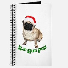 Cute Santa pug Journal