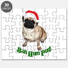Cute Santa pug Puzzle