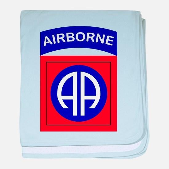 82nd Airborne Division Logo baby blanket