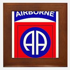 82nd Airborne Division Logo Framed Tile