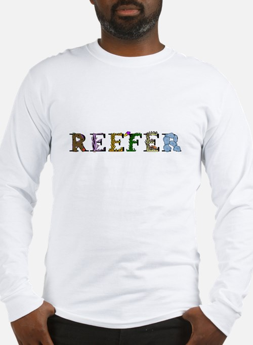 reefer_dark_darktext Long Sleeve T-Shirt