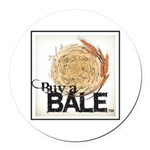 Buy A Bale (Border) Round Car Magnet