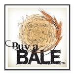 Buy A Bale (Border) Square Car Magnet 3