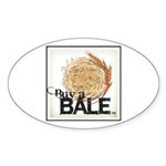 Buy A Bale (Border) Sticker (Oval 10 pk)