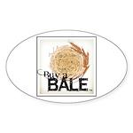 Buy A Bale (Border) Sticker (Oval 50 pk)