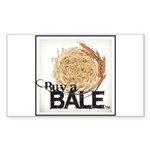 Buy A Bale (Border) Sticker (Rectangle 50 pk)