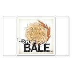 Buy A Bale (Border) Sticker (Rectangle 50 pk)