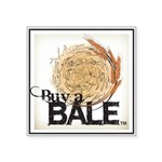 Buy A Bale (Border) Square Sticker 3