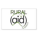 Rural Aid Sticker (Rectangle 10 pk)