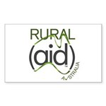 Rural Aid Sticker (Rectangle 50 pk)