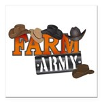 Farm Army Square Car Magnet 3