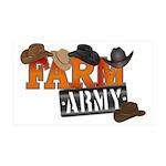 Farm Army 35x21 Wall Decal