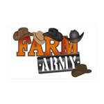 Farm Army 35x21 Wall Decal