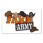 Farm Army Sticker (Rectangle 10 pk)