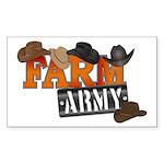 Farm Army Sticker (Rectangle 10 pk)