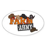 Farm Army Sticker (Oval 10 pk)