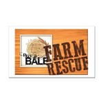 Farm Rescue Rectangle Car Magnet