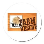 Farm Rescue Round Car Magnet