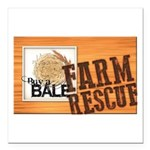 Farm Rescue Square Car Magnet 3