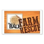 Farm Rescue Sticker (Rectangle 50 pk)
