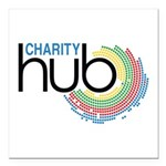 Charity Hub Square Car Magnet 3