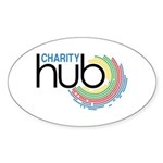 Charity Hub Sticker (Oval 50 pk)