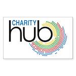 Charity Hub Sticker (Rectangle 10 pk)