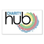 Charity Hub Sticker (Rectangle 50 pk)