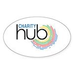 Charity Hub Sticker (Oval 10 pk)