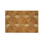 Hay Bale Rectangle Magnet (100 pack)