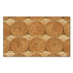 Hay Bale Sticker (Rectangle 10 pk)