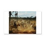 Herding Cattle Car Magnet 20 x 12