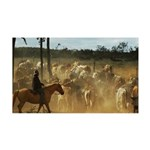 Herding Cattle 35x21 Wall Decal