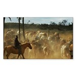 Herding Cattle Sticker (Rectangle 10 pk)