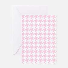 Pink, Baby: Houndstooth Checkered Pa Greeting Card