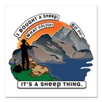I Bought A Sheep Mountai Square Car Magnet 3