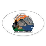 I Bought A Sheep Mountain Sticker (Oval 10 pk)
