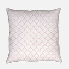 Pink, Baby: Quatrefoil Clover Patt Everyday Pillow